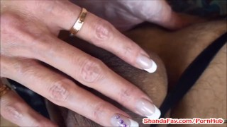 Shanda's Pegging Prostate Exam! Fucks Man With Strap On! pegging femdom shandafay canadian kink strap on guy pegged amateur kinky babe anal brunette stockings housewife woman fucks man