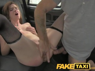 Nudist Family Cum FakeTaxi Red head gets fucked through the slut hatch