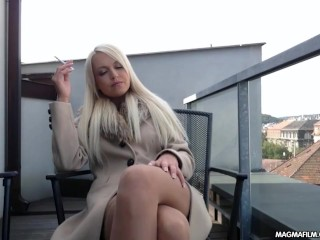 Amateur Masturbate Sex MAGMA FILM Busty blonde German babe rubs her beautiful pussy