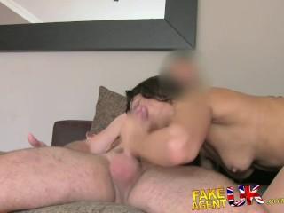 FakeAgentUK Spanish pornstar gives agent amazing blowjob and fast fucking