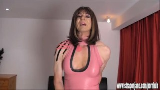 Crossdresser slut wanks big cock as hot femdom Strapon Jane fucks her ass  ass fuck big cock strapon tranny crossdresser femdom masturbate amateur cumshot wank fetish hardcore latex mistress straponjane adult toys
