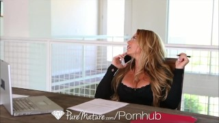 HD - PureMature MILF Corrina Blake shows off her new toy