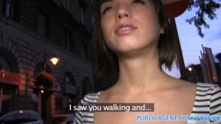 PublicAgent Bubble butt brunette takes strangers anaconda in her pussy  sex for money sex for cash point of view outdoors outside amateur hungarian cumshot public pov real camcorder reality publicagent sex with stranger