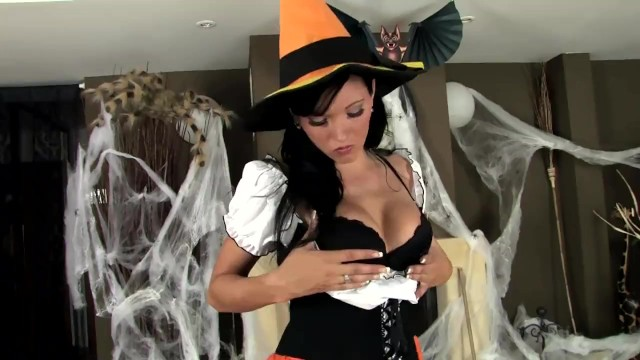 Sexy ladies dropping panties video - Sexy babe teasing and fingering in fishnets and panties for halloween