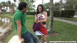 Horny Schoolgirl Gets One Wet Creampie