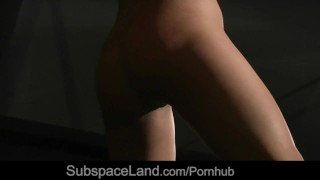 Slave girl enjoying pain and pleasure in bondage