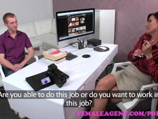 FemaleAgent. Sexy MILF agent teaches stud how to fuck