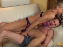 Aggressive wife attacks her husband balls and squeeze and hit them