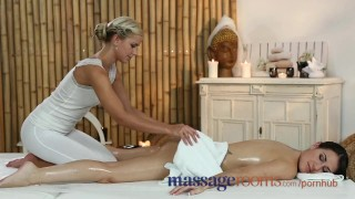 Massage Rooms Cute British lesbian has G-spot orgasm with Czech beauty