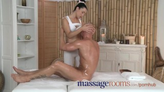 Massage Rooms Young girl with perfect body loves big hard cock inside her