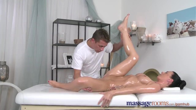 Treatment of facial cysts - Massage rooms sexy babe squirting when getting expert finger treatment
