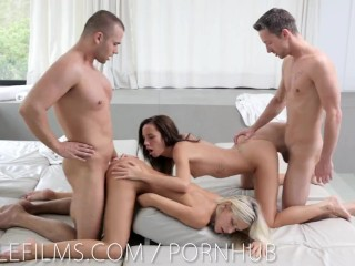 Hardcore group sex with Dido and Gina