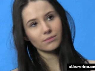 Teen Wet Dream Porn Fucking, Brunette teen VanessA posing at the casting Brunette Teen