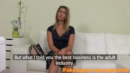 FakeAgent Blonde babe fucked hard and spunked on in Office