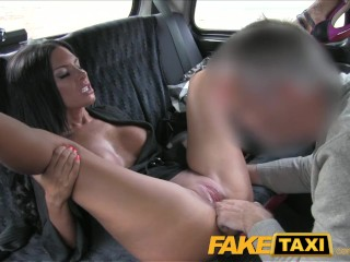 Terri Runnels Lingerie FakeTaxi Black haired milf cheats on hubby with taxi driver