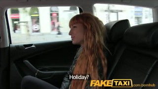 Preview 2 of FakeTaxi Sexy redhead takes a pounding from behind