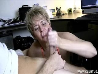 Mature handjobs porn