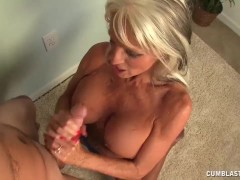 Topless Granny Cumblasted