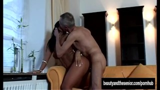 Teen gets an old dude tanned by fucked old euro