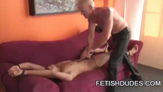 Gabriel and Hytch Cawke: Gay Bondage And Pegging Latino compilation