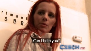 Czech Teacher strips a young student then fucks her tight clean pussy Outdoor redhead