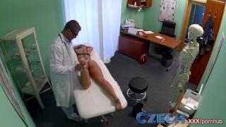 Czech Dizzy blonde squirts and recieves a creampie prescription