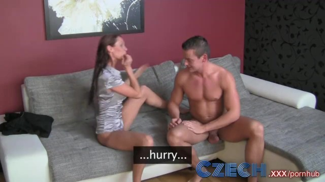 Czech Stud can't control his cock and creampies sweet MILF agents pussy
