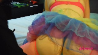 Whore'r Stories Riding Rainbowdash