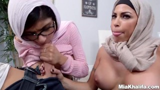 Mia Khalifa stepmom Juliana Vega fucks and sucks her boyfriends cock  big ass big tits big cock reverse cowgirl mom blowjob milf 3some muslim babes mother threesome hijab arabic religious step mom