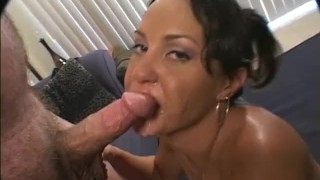 Homemade cock sucking with nice open mouth facial!