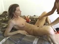 Homemade ass eating double penetration strapon fucking pierced girl