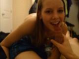 18 yr old Mya Lane Quick Blowjob