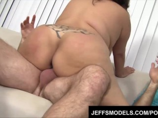 Toosie's plump latina pussy gets probed by an old guy's dick