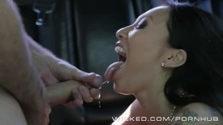 Wicked - Backseat anal with Asa Akira  car sex ass fuck ass fucking raven babe wickedpictures asian leather tattoo skinny big dick pounded kink japanese car gape heels fingering anal wicked