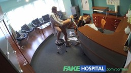 FakeHospital Nurse joins doctors threesome for the first time