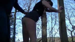Hot Doggy in the Park & Woods w/ Anal Creampie Small ass