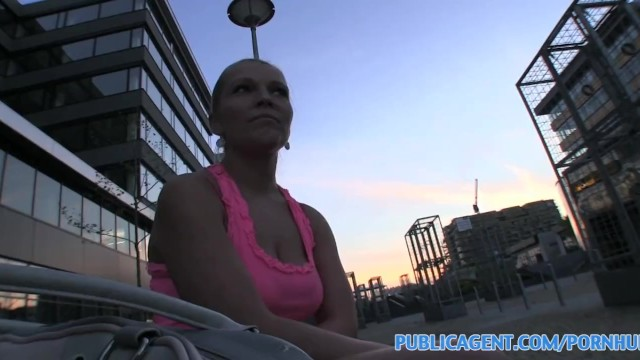 HD PublicAgent Curvy Russian gets banged in the bushes