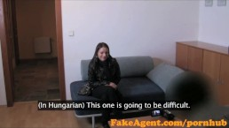 FakeAgent Shy innocent student tricked into sex in Casting Interview