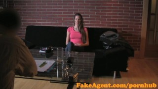 FakeAgent Failed swimwear model tries Casting interview for work