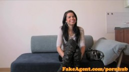 FakeAgent Smoking hot teen will do anything for a job