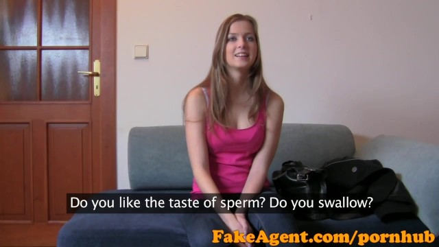FakeAgent Sexy amateur gets her first creampie in Casting
