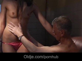 Www Find A Slut Com Fucking, Oldman bonks the ass of a slutty young cleaning girl Mature anal Teen