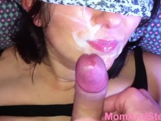Xxx Movie 4 Mom Blowjob And Cum On Face Mom And Step Son, Blowjob Cumshot