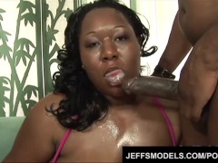Black BBW Daphne Daniels gets powerfully penetrated