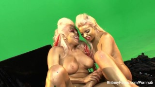Britney Amber lesbian makeup fun Mother doggy