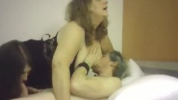 Hot Bbw Milf With Nice! Breasts And Older Cougar Play With Hot Young Stud!!