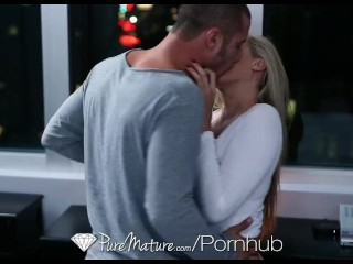 HD - PureMature - Julia Ann gets her floppy tits slapped around