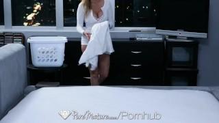 HD - PureMature - Julia Ann gets her floppy tits slapped around
