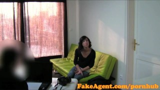 FakeAgent Sexy shy brunette bent over desk and fucked hard in Office