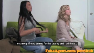 FakeAgent Two smoking hot amateurs fucked hard in Casting interview Job tits